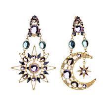 percossi papi earrings online shop asymmetric percossi papi boho sun and moon barcelona