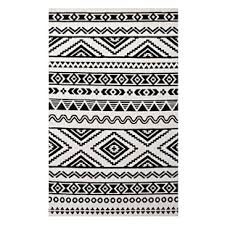 Black White Area Rug Black And White Tribal Rug Wayfair