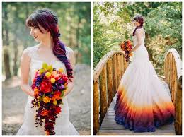 dip dye wedding dress dip dye your dress for a unique and colorful wedding dorky