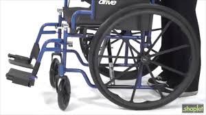 Drive Wheel Chair Drive Medical Blue Streak Single Axle Wheelchair Youtube