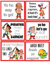 jake and the neverland pirates lunch box notes dog days of the