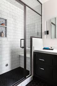 Black Ceramic Floor Tile Black And White Tile Bathroom Floor White Black High Glossy