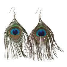 peacock feather earrings s feather fashion earrings ebay