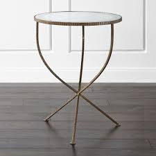 all glass end tables jules large accent table reviews crate and barrel