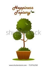 bonsai tree pot on white background stock vector 556243339