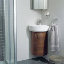 fitted bathroom ideas stylish wooden furniture corner units using excellent bowl sink