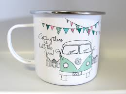 vw camper van enamel tin mug retro cool accessories pinterest