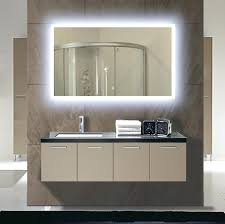 lights large rectangle wall mounted lighted mirror vanity for