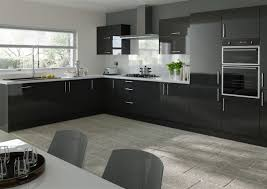 Lewes High Gloss Black Kitchen Doors From  Made To Measure - High gloss kitchen cabinet doors