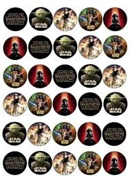 wars edible image 30 x wars mixed images edible cupcake toppers 172 edible