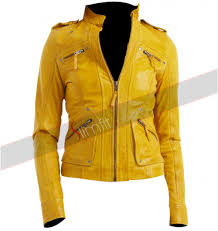 real leather motorcycle jackets lauren women u0027s yellow leather motorcycle jacket