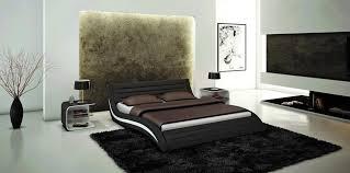 bedroom design modern platform bed with leather headboard useful
