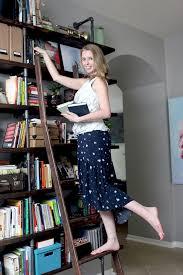 Diy Ladder Shelf Shelves Tutorials by Diy Ladder For The Library Gray House Studio