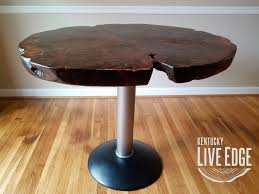 Natural Slab Dining Table Ready To Ship Round Kitchen Table Live Edge Dining Table Tree