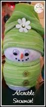Diy Sock Snowman The Perfect Snowman Craft From Socks The Owl Teacher