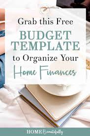 free budgets templates free budget template to organize your home finances home beautifully