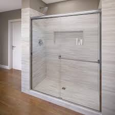 shop basco classic 40 in to 44 in frameless shower door at lowes com