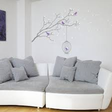 products wallboss wall stickers art winter branch with bird cage wall vinyl