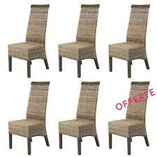 meubles en rotin lot chaise salle a manger rotin meubles en rotin lot 6 chaises