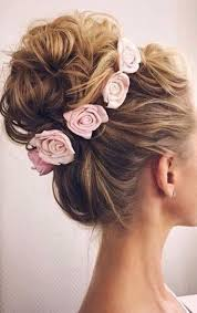 flower hair bun adorable and pretty bun with flowers hair flowers