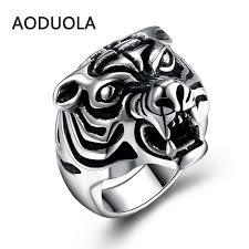 men vintage rings images Stainless steel ring animal tiger punk big size rings vintage biker la jpg