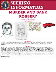 Seeking Poster Murder And Bank Robbery Fbi