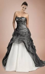 Black And White Wedding Dress Cheap Pink And Black Wedding Dresses For Sale At Wholesale Price