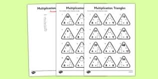 3 and 4 times table recall and use multiplication and division facts page 1