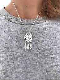 silver boho necklace images Dreamcatcher boho necklace silver gold ros lovelymusthaves jpg