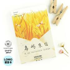 28 pcs set infeel me island letter mini card greeting card lomo