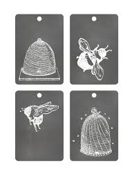 free printable chalkboard tags bees and hives the graffical muse