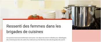la brigade de cuisine cuisine familiale un test à remplir femme dans une brigade de cuisine