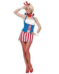 Red White Blue Halloween Costumes Amazon Womens Uncle Sam Costume Patriotic Costume Red White