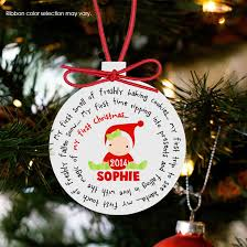 christmas ornaments baby baby s christmas ornament personalized for a girl or
