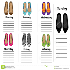 time management weekly planner template woman weekly daily planner template with fashionable shoes woman weekly daily planner template with fashionable shoes organizer diary schedule with