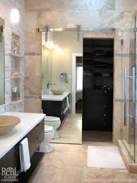 custom barn door hardware contemporary bathroom seattle by