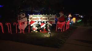 Candy Cane Lights Candy Cane Lane Is Back Lights On In West Allis As Neighbors