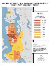 Zip Codes Seattle Map by Custom Cartographic Design