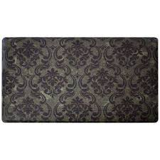 Damask Kitchen Rug Anti Fatigue Low Density Polyethylene Kitchen Rugs U0026 Mats