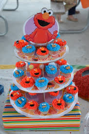 Edible Eyes Cake Decorating Elmo And Cookie Monster Mini Cupcakes For 1rst Birthday Party The