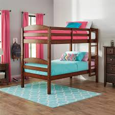 mainstays mainstays twin over twin wood bunk bed walnut