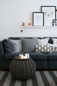 brown couch pale grey with hint of blue walls i like it but i