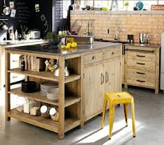 cuisine bois pas cher fabriquer un îlot de cuisine 35 idées de design créatives