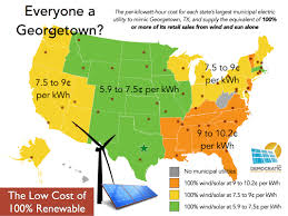 Georgetown Map Can Other Cities Match Georgetown U0027s Low Cost Switch To 100 Wind
