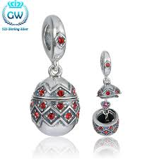 925 sterling silver easter egg charm with heart inside 2016 new