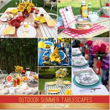 outdoor summer tablescapes for backyard bbqs and picnics