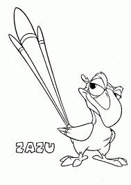 Zazu Coloring Pages Many Interesting Cliparts The Coloring Pages