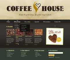 coffee shop website template 37865