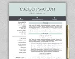 Modern Professional Resume Template Resume Template Word Etsy