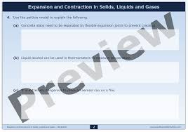 expansion and contraction in solids liquids and gases